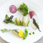 寄島産真鯛のタルタル有機野菜