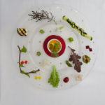 パプリカのムース季節の野菜